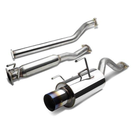 DNA Motoring CBE-ARSX-S-BT CBEARSXSBT Stainless Steel Catback Exhaust System