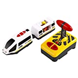 TOYANDONA Electric Remote Control Train Educational Toy for Kids,Compatible with Wooden Train Track ,No Battery