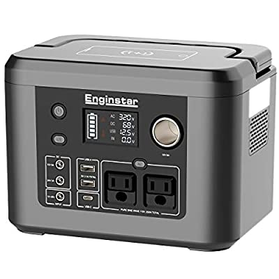 350W Portable Power Station, 296Wh Backup Lithium Battery with Wireless Charger, Solar Generator (Solar Panel Buy Separately) for Outdoors Camping Travel CPAP Machine Emergency