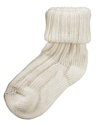 1 Paar Umschlag-Söckchen mit Alpakawolle,Vorgewaschen Socken,100prozent Superweich-CH-194 (39-42, Natur)