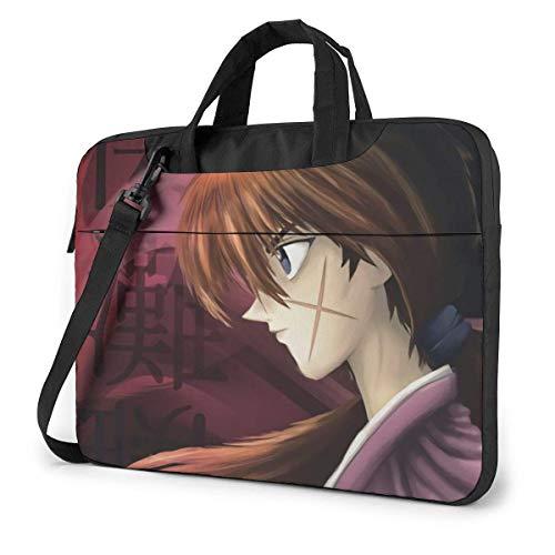 XCNGG Rurouni Kenshin Anime Laptop Shoulder Messenger Bag Tablet Computer Storage Backpack Handbag 14 inch