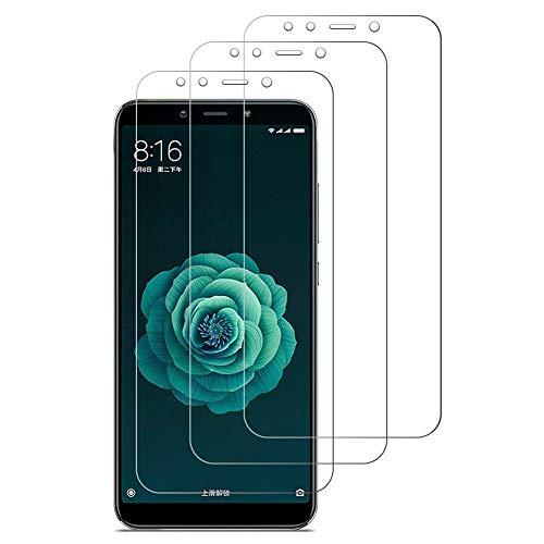 iDolix [3 Unidades] Protector de Pantalla para Xiaomi Mi A2,Cristal Templado para Xiaomi Mi A2 9H Dureza,Alta Definicion,Sin Burbujas - Transparente