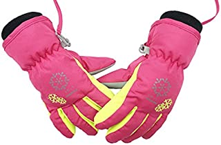 BeBeFun Kids and Toddler Warm Snow ski Snowboarding Winter Finger Gloves for Boys and Girls Size Age 3-5 and 6-8