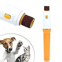 ペット犬猫の爪グルーミンググラインダートリマークリッパーネイルファイルキット CHAOCHAO