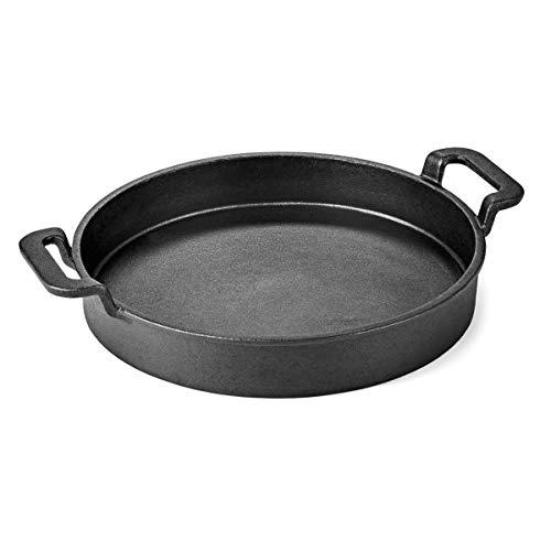 Flash Grillrost-Einsatz BBQ Gusseisen Wok Pizzastein passend für Weber GBS Grill Guss-Pfanne