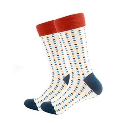 YDWZYS Neue Trend Mode Gekämmte Baumwolle Männer Socken Unisex Frauen Tier Skateboard Socken Männer Neuheit Hochzeitskleid Socken Einheitliche Größe Farbige Punkte