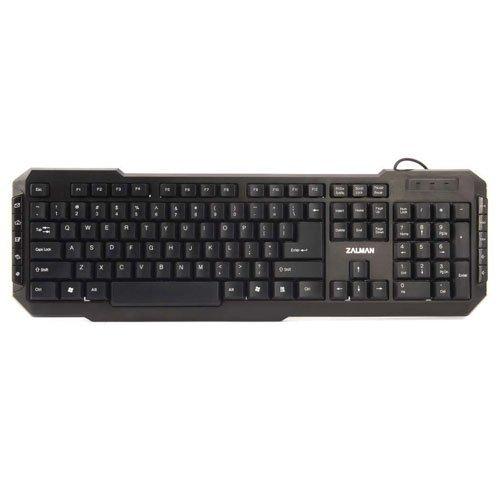 Zalman ZM-K200M Multimedia Tastatur (QWERTY, 10 Hot-Tasten, USB) mit Maus