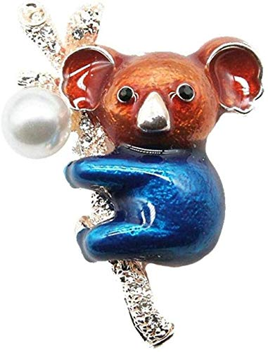 FOPUYTQABG Brooch Exquisite brooch pin cute multicolor enamel koala bear exquisite brooch pin cute blue clothes animal exquisite brooch female men's jewelry pin