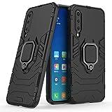 Cocomii Black Panther Ring Xiaomi Mi 9 SE Case, Slim Thin Matte Vertical & Horizontal Kickstand Ring Grip Reinforced Drop Protection Fashion Phone Case Bumper Cover for Xiaomi Mi 9 SE (Jet Black)