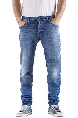 Meltin'Pot - Jeans RAF D0103-UP450 per Uomo, Modello Dritto, vestibilità Normale, Vita Regular, con 5 Tasche