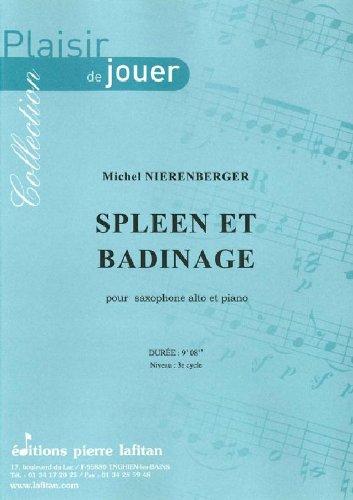 Partitions classique LAFITAN NIERENBERGER MICHEL - SPLEEN ET BADINAGE - SAXOPHONE ALTO ET PIANO Saxophone