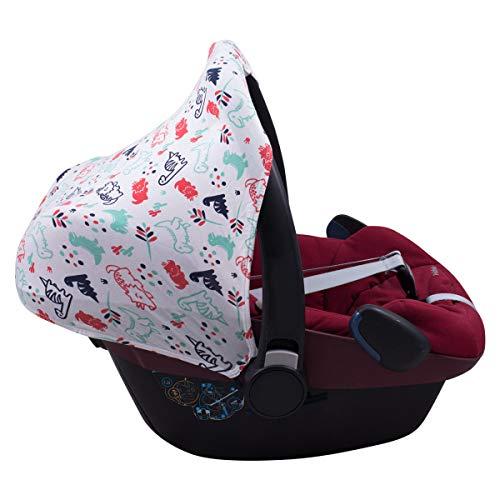JANABEBE Capota compatible con Maxi-Cosi Pebble Bebe Confort (DINO PARTY)