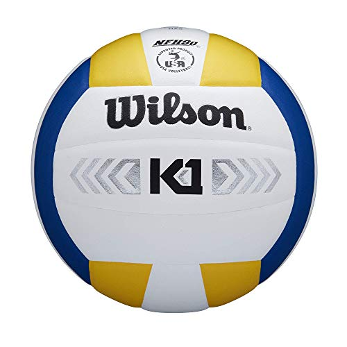 Wilson Unisex-Adult K1 SILVER VB BLUWHYE Volleyball, BLUE/WHITE/YELLOW, OFFICIAL