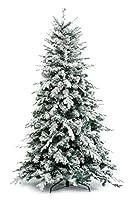 GUARDA IL VIDEO DEL PRODOTTO >> https://www.youtube.com/watch?v=VkoKotjs8n4 | Elegante albero innevato con rami resistenti, perfetti per l'addobbo, realizzati in materiale di altissima qualità (PE-real touch- e PVC) e armoniosamente inseriti lungo tu...