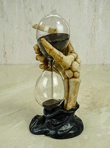 Joh. Vogler GmbH Grim Reaper Skeletthand Sanduhr 17 cm Gothic Figur Totenschädel Totenkopf Hourglass Zeit messen