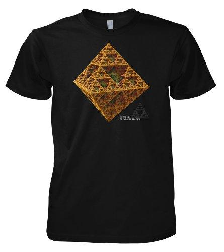 Geek 3D Fractal Sierpinski Pyramid 701502 Herren T-Shirt 001 3XL