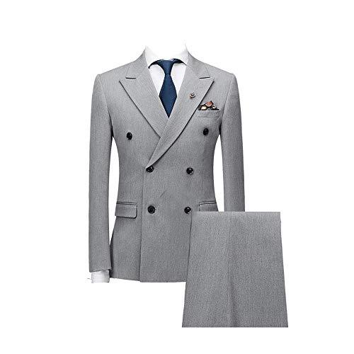 FRANK Herren Anzug Zweireiher Revers Hochzeitsanzug