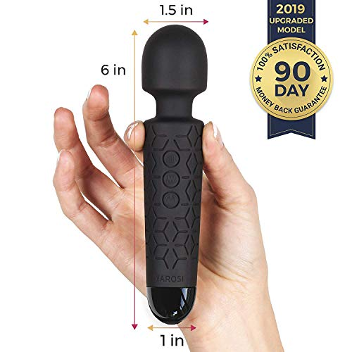 Micro Massage Wand Device by Yarosi - Smallest and Strongest Cordless Handheld Massage - Powerful - Best for Travel - Magic Stress Away - Perfect on Back Legs Hand Pains and Sports Recovery