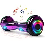FLYING-ANT Hoverboard with Bluetooth, Self Balancing Electric Scooter 6.5' Two-Wheel Hover Boards with LED Lights for Kids and Adult-A02B Chrome Purple