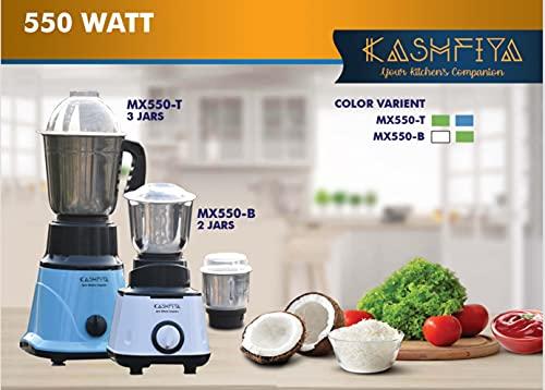 KASHFIYA - 3 Jar 550 Watt Mixer Grinder Juicer stainless steel blade...