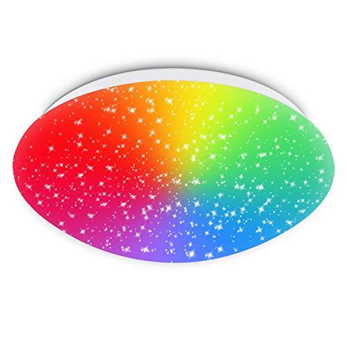 RGB LED Deckenlampe Kompatibel mit Alexa, Google Home, APP, Wifi 18W 1550LM Dimmbar LED Deckenleuchte, Sternenhimmel Weiß bis Warmweiß 2700-6500K für Kinderzimmer Schlafzimmer Wohnzimmer Balkon Küche