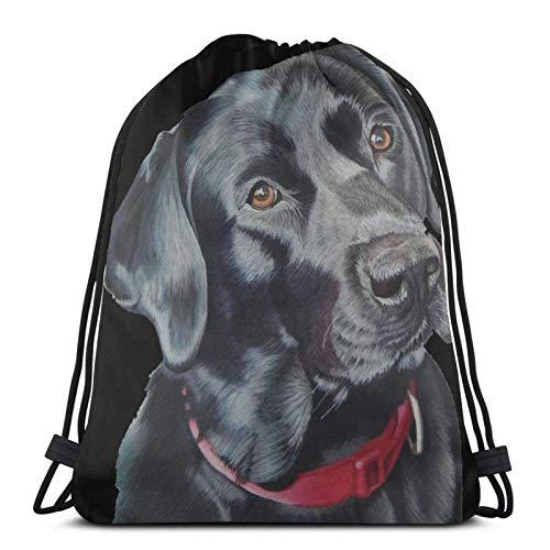 fenrris65 Mochila con cordón de Terylene para hombre y mujer Indi The Black Labrador String Bag