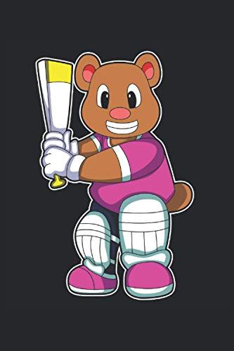 Cricketspieler Notizbuch, 120 Seiten: Bär - Geschenke - Cricketspieler Notizbuch - Tagebuch für Frauen, Männer und Kinder - 6x9 Zoll (Ähnlich DIN A5) - Kariert