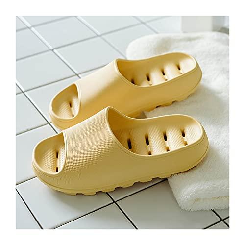 Zapatos de Playa y Piscina Baño para mujer Deslizadores de ducha antideslizantes de 4,5 cm de espesor Suela de EVA con agujero de drenaje Zapatos de casa interior Sandalias suaves y tranquilas Sandali