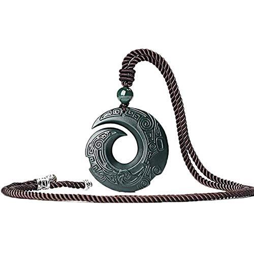 Best Friend Collares, Colgante Collar de Jade para Mujer Collar Colgante de Jade Natural Jade Hetian para Hombre Regalo Colgante Budista de la Suerte Collar Colgante Personalizado