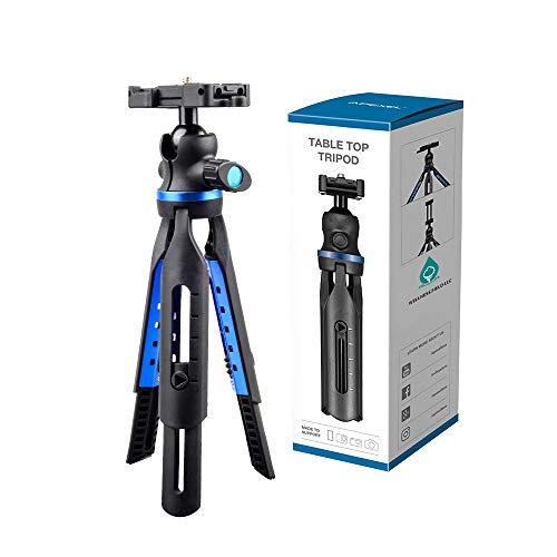 Tripod for Smartphone, DSLR, Video Camera or Handy Camera – Adjustable Legs – Compact & Light – Superior Aluminum & ABS Body – Multipurpose & Versatile – 360° Ball Head – Tabletop Tripod for Vlogs