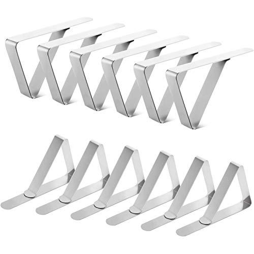 Haude 12 clips para mantel, mantel de mesa, pinzas para mantel de picnic, soportes de mantel para fiestas, bodas