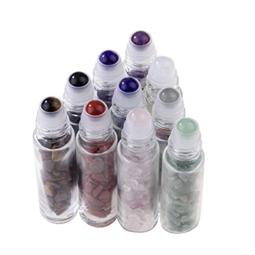 Beaupretty 10pcs bouteilles de parfum rechargeables bouteilles d'huile essentielle bouteilles en verre à rouler bouteilles 10 ml