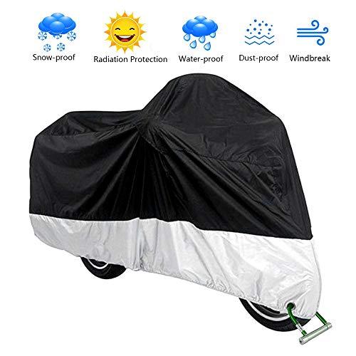 VISLONE Funda para Moto Cubierta Impermeable a Prueba de Polvo Anti-UV Protector Solar Protección al Calor Anti-arañazos (L)