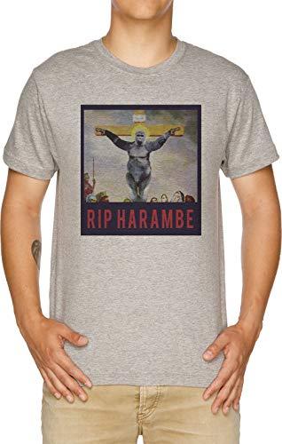 Ruhe In Frieden Harambe - Sohn Von Gott Herren T-Shirt Grau
