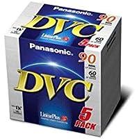 Panasonic DVM60FE3B AY-Blíster de 5 Cajas Min DV 60 Minutos Calidad estándar