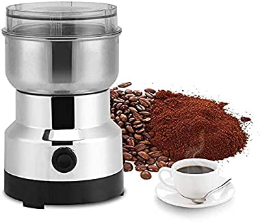 Maraehan Jackgold, Stainless Steel Whole Bean Burr Manual Coffee Grinder, Electric, Silver