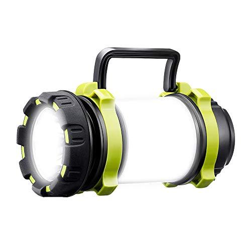 Linterna LED ultra potente recargable USB 1000 lúmenes 4000 mAh lámpara de camping 6 modos IPX4 impermeable linterna de bolsillo de alta potencia para emergencia, senderismo, camping, caza
