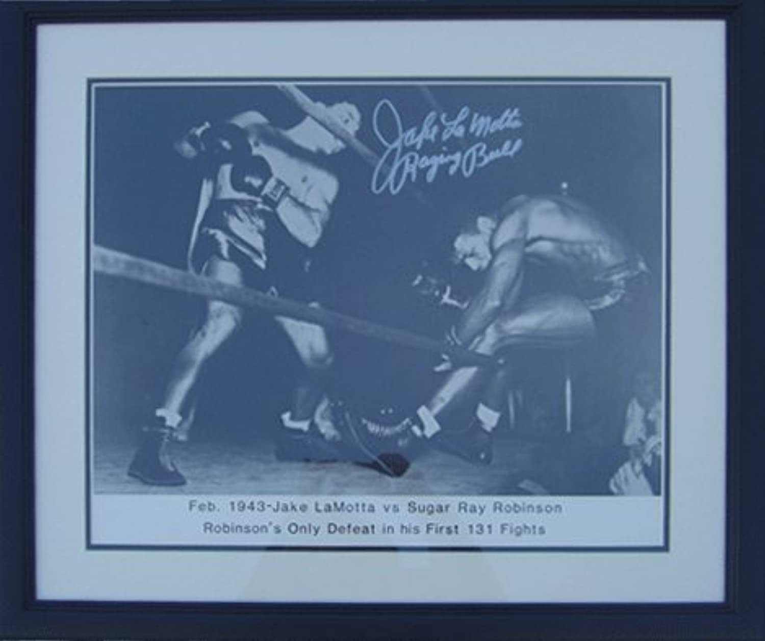 Encore Select Sports Collectibles 20x24 Autographed Frame Jake Lamotta