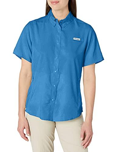 Columbia Tamiami II Camiseta de Manga Corta Atletismo, Azul Impulso, XL