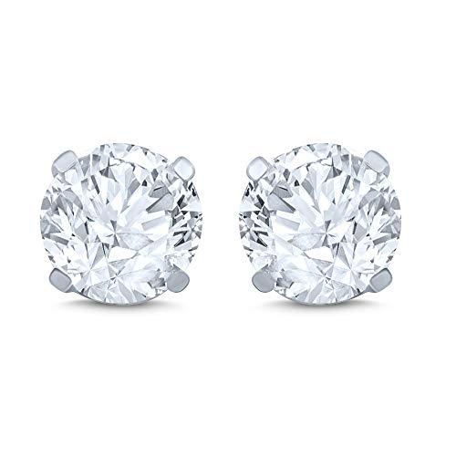 14k White Gold Diamond Stud Earring (1/4 cttw, J-K Color, I2I3 Clarity)