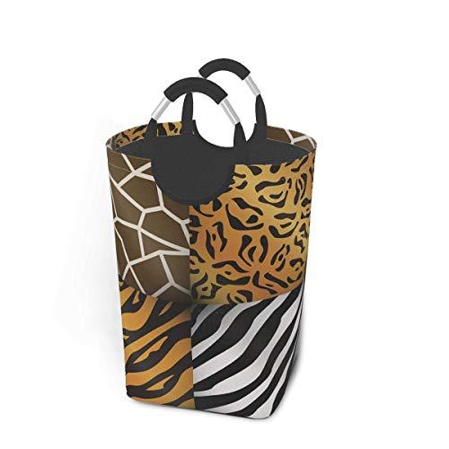 Liumt Canasta de lavandería Colgante de Tigre con Animales de Safari, Bolsa de cesto, cesto de Almacenamiento de Ropa Sucia, cestas de Lavado, Soporte para Ropa de Libro de Juguete para niños