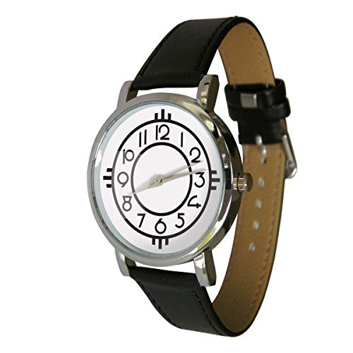 Your Watch Design Unisex Uhr. Erwachsenengröße. Analog Quarz mit Leder Armband. Jugendstil-Design