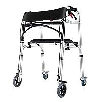 Andador de 4 Ruedas con Asiento Modelo Columna Andador para Adultos, Ancianos...