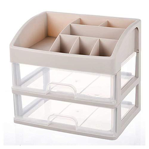 Unbekannt escritorio de compartimento de recipiente de almacenamiento, plástico multicapa cosmético de clasificación de espacio de almacenamiento, kosmetischer Soporte de un estante con compartimento, verfassungs de escritorio de Exhibidor, plástico, transparente, Two layers
