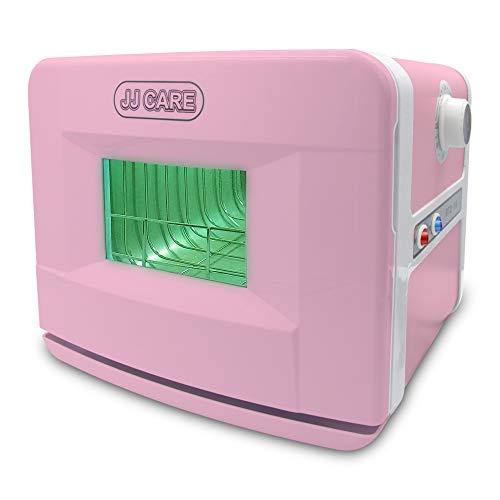 JJ CARE [PROFESSIONAL] UV Sterilizer for Salon 8L Capacity, 2-in1 UV Disinfection Box & Dry Heat Sterilizer Box, Sterilizer Cabinet for Spa Tabletop, Beauty Clinic, Barber Shops - Pink