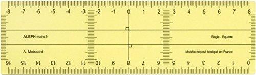 ALEPH - Règle-Equerre petit modèle 16cm