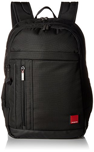 Hedgren Red Tag Glider Mochila, 15.6 pulgadas, portátil, tableta y bolsillos para botellas, 6.7 x 18.3 x 12.6 pulgadas, unisex, color negro