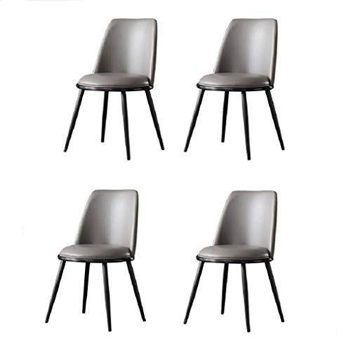 WTDlove Set Of 4 Mid-Century Modern Upholstered Dining Chair, Faux Leather Kitchen Room Accent Side Chair With Fully Upholstered Back And Cushioned Seat For Living Room Bedroom Kitchen