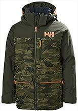 Helly-Hansen Juniors Tornado Waterproof Ski Jacket, 468 Olive AOP, Size 12