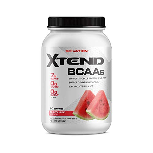 XTEND Original BCAA Powder Watermelon | Branched Chain Amino Acids Supplement | 7g BCAAs + Electrolytes for Recovery & Hydration | 90 Servings